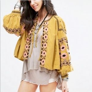 Anthropologie Rd Koko Embroidered Top Jacket M